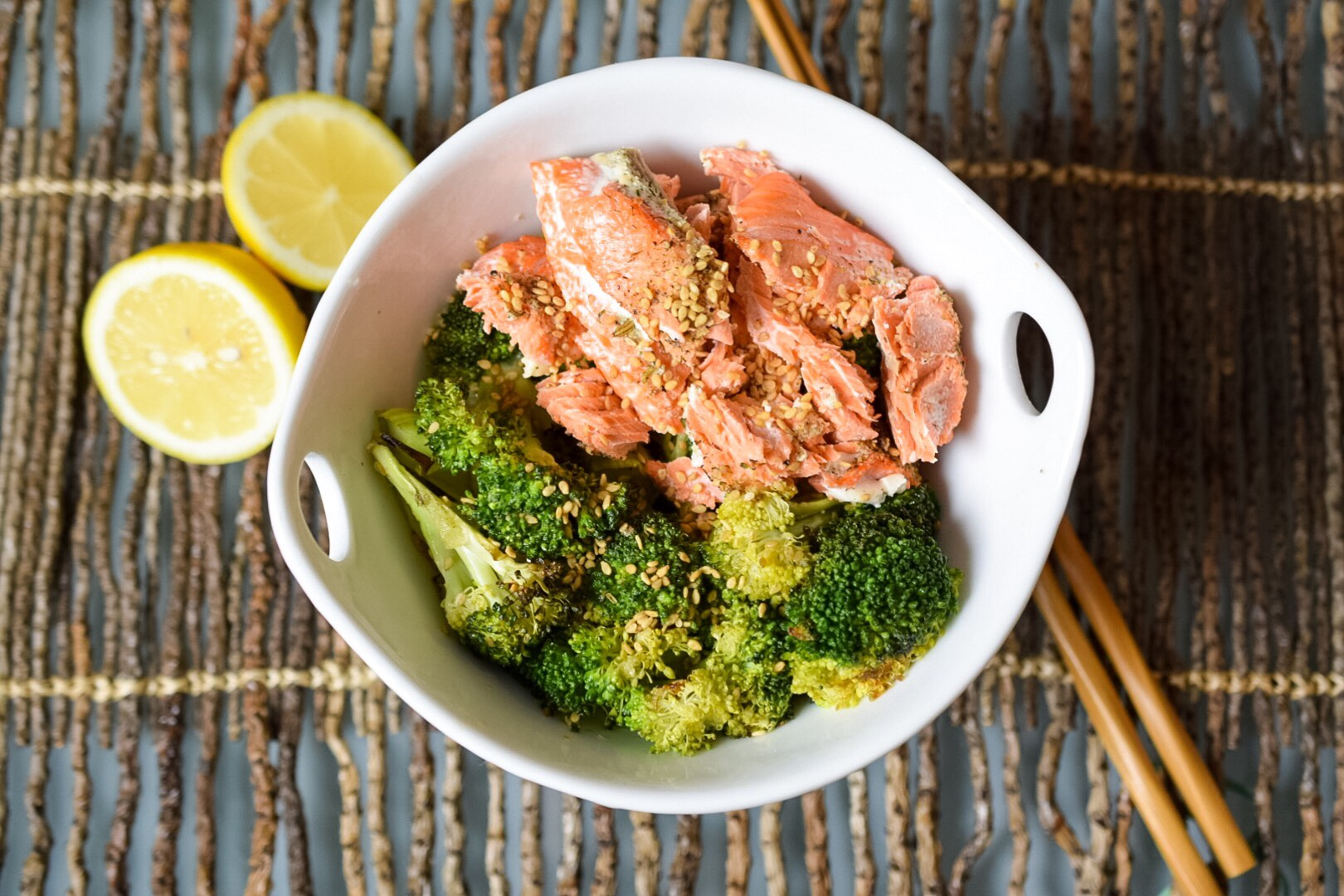 Brassica Tea Poached Salmon - Finished Dish