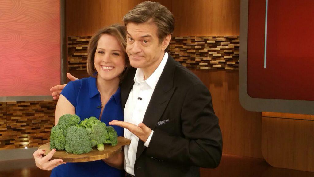 Ashley Koff RD with Dr. Oz and Broccoli