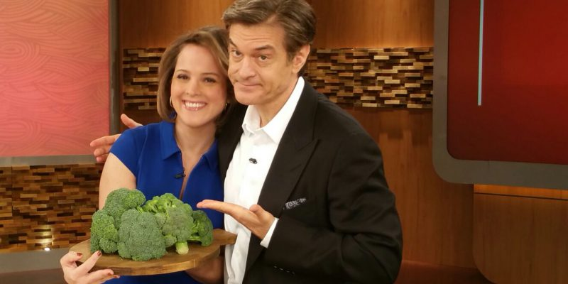 Ashley Koff RD with Dr. Oz and Broccoli